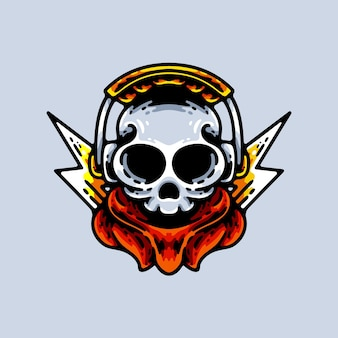ヘッドセットイラストキャラクターとゲームの頭蓋骨