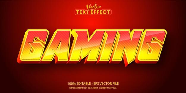 Игровой текст мультяшный стиль редактируемый текстовый эффект