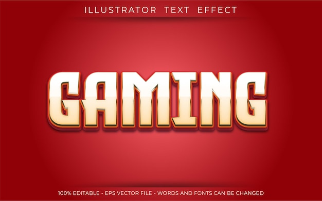 Gaming text effect, editable 3d text style
