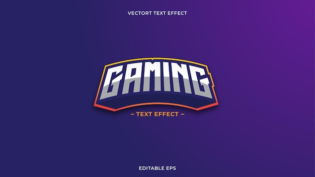 Gaming text effect neon