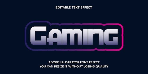 Gaming text font effect