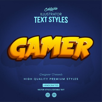 Gaming text style