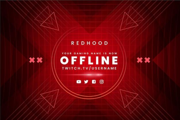 Gammer style banner offline twitch