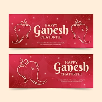 Ganesh chaturthi banners template