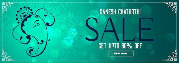 Ganesh chaturthi festival sale elegant banner