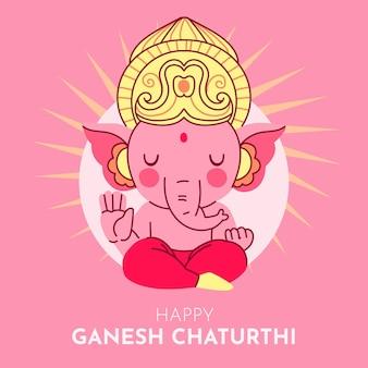Ganesh chaturthi illustration concept