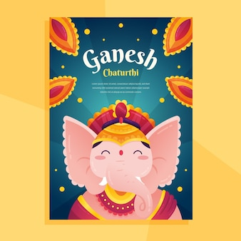 Ganesh chaturthi poster template