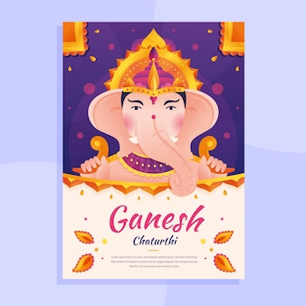 Ganesh chaturthi poster theme