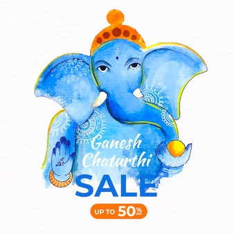 Ganesh chaturthi sale template