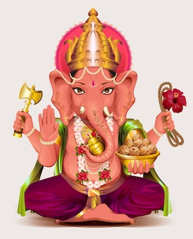 Ganesha indian god of wisdom and wealth