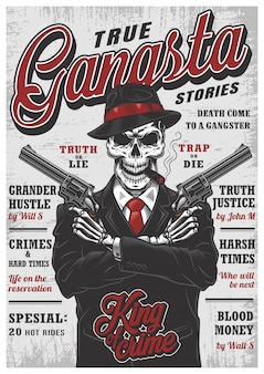 Gangsta skeleton magazine