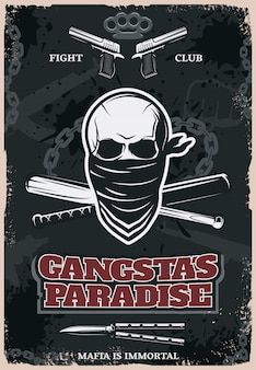 Плакат гангстас рай