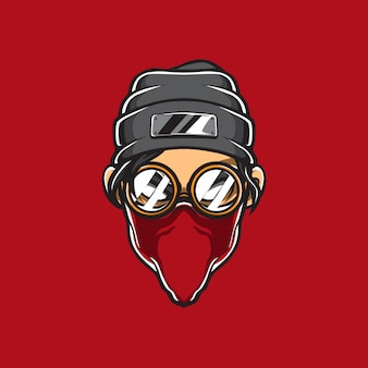 Gangster head vector logo