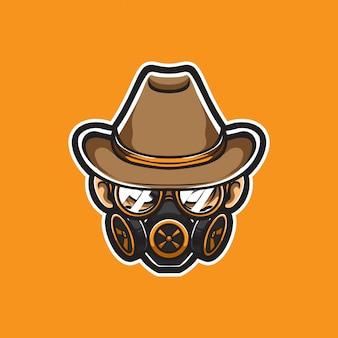 Gangster head vector logo