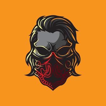 Шаблон логотипа гангстера