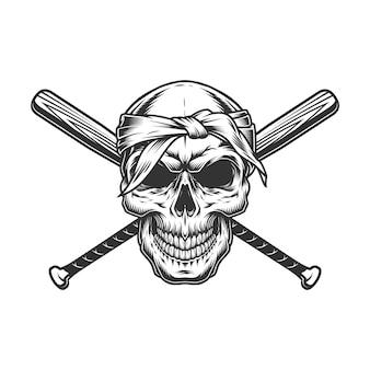 Гангстерский череп в бандане