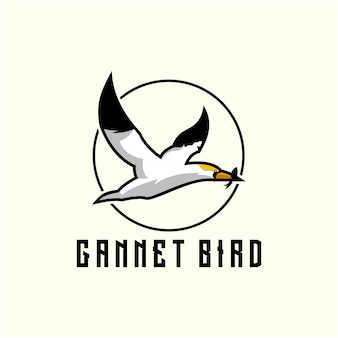 Gannet bird logo design