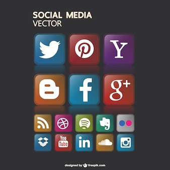 Бесплатно социальные медиа иконки gaphics