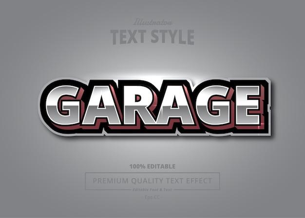 Garage illustrator text effect