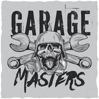 Garage masters label design