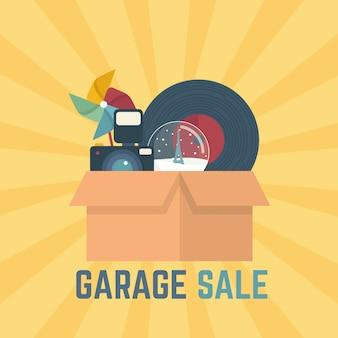 Concetto di vendita di garage