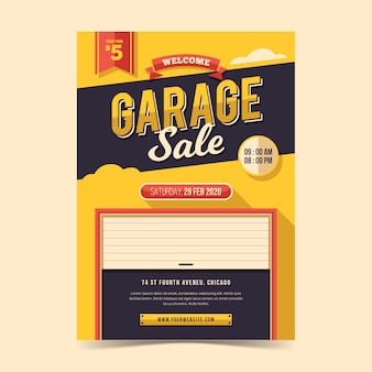 Modello di volantino vendita garage