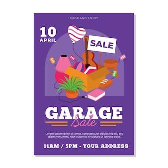 차고 판매 포스터 템플릿 디자인