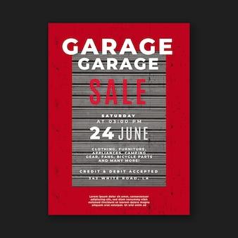 Modello del manifesto di vendita di garage