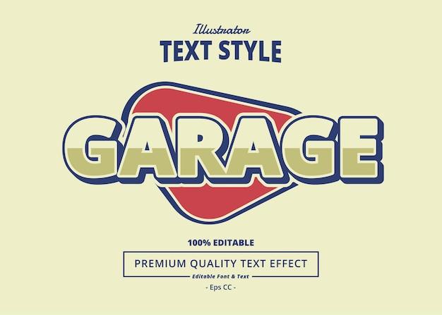 Garage text effect