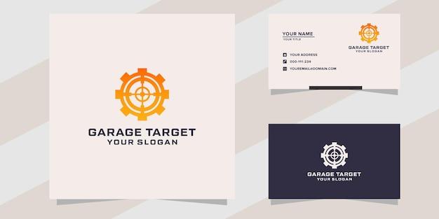 Garage with target logo template
