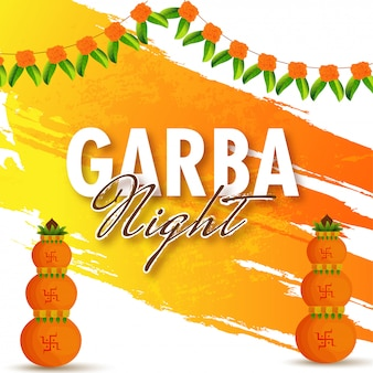 Garba night background.