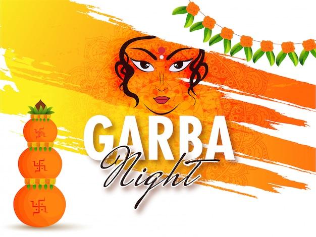 Garba night background.
