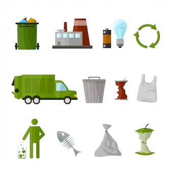 Garbage recycling set