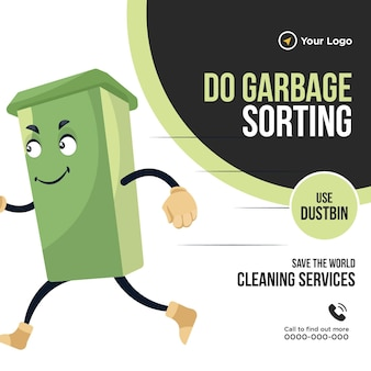Do garbage sorting banner design