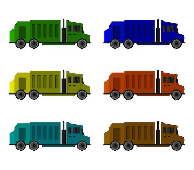 Garbage truck set