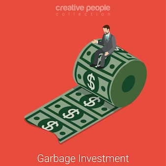 Инвестиционная квартира для мусора изометрии