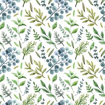 庭と森の緑のシームレスなパターン。
