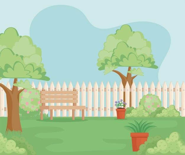 정원 뒤뜰 장면