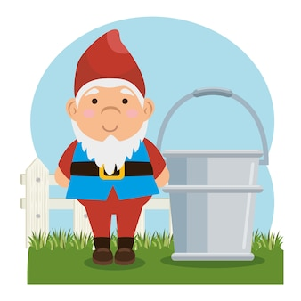 Garden elf decorative icon