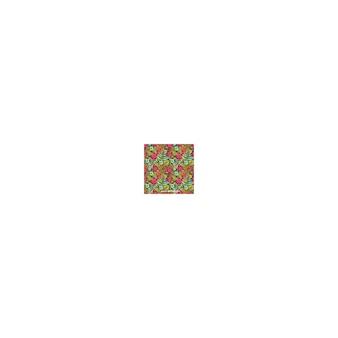 정원 꽃과 나뭇잎 패턴