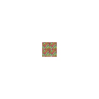 Garden flowers and leaves pattern