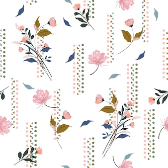 Garden flowers pattern