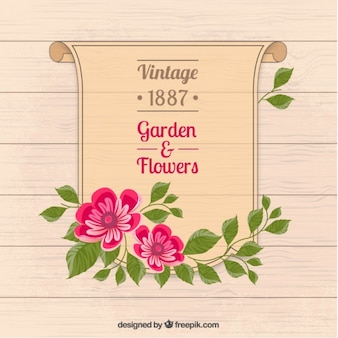 Giardino e fiori manifesto