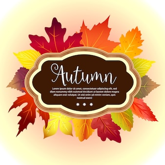 Garden foliage template autumn forest leaves