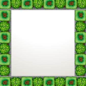 Garden framed background