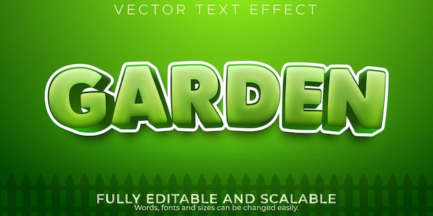 Garden fresh text effect, editable green and organic text style