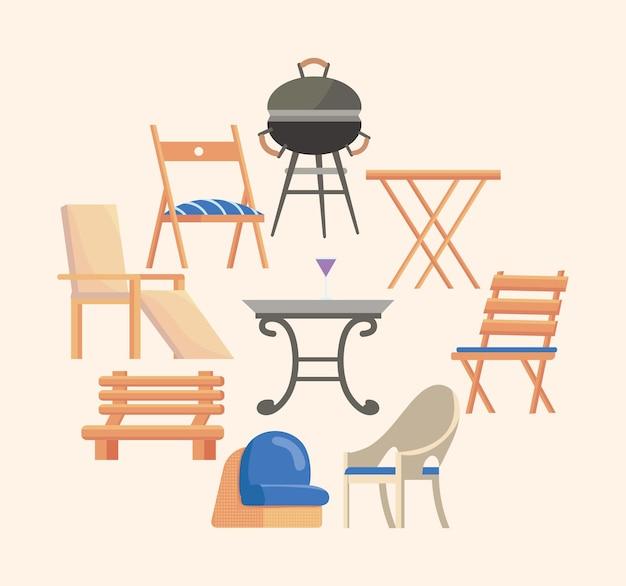 Садовая мебель девять икон