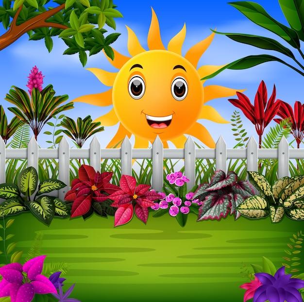 Garden under the happy sun