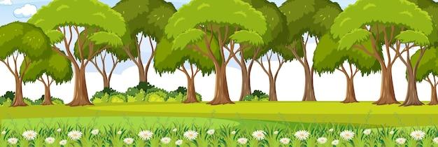 정원 가로 풍경 장면 배경