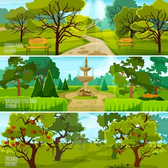 Garden landscape banners